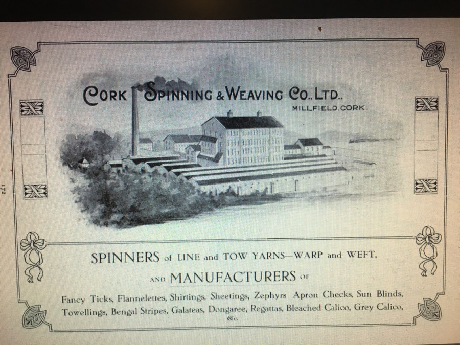 910a. Advertisement for Cork Spinning and Weaving Company 1917