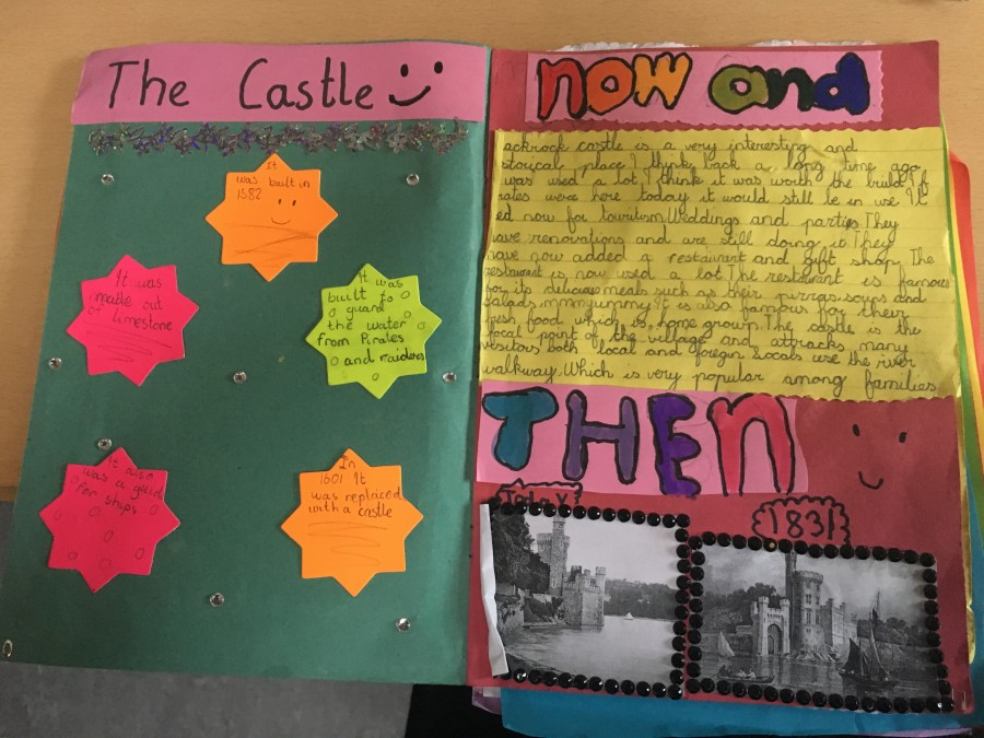 911b. Page from school history project on Blackrock Castle 2017
