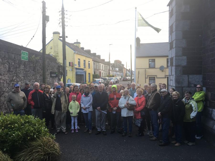 Group on Kieran's historical walking tour of Friar's Walk-Greenmount quarter, Cork, July 2017