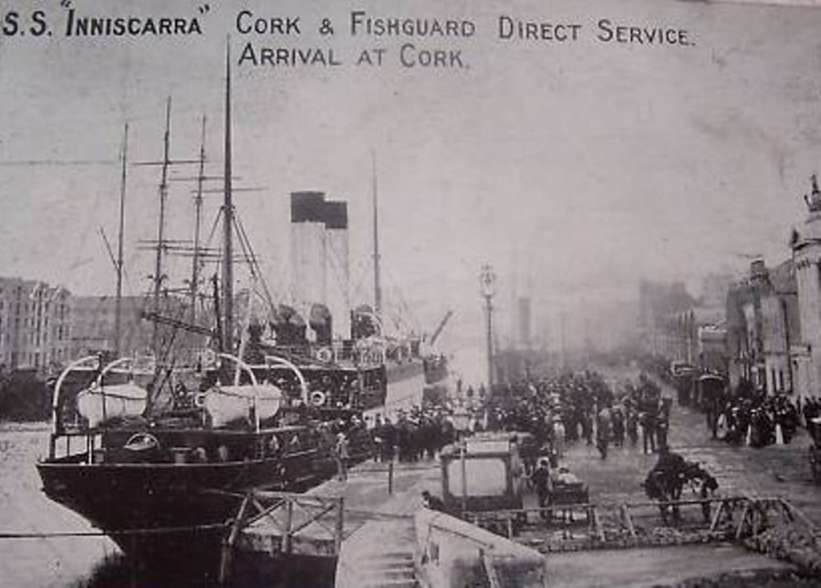 914a. SS Inniscarra berthed at Penrose Quay, c.1915