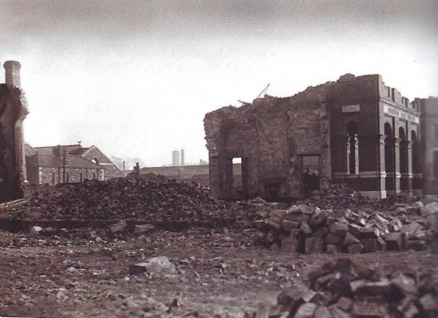 915b. Cork Carnegie Library in Ruins 1920