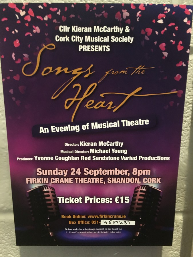 Songs from the Heart, An Evening of Musical Theatre, 24 September 2017