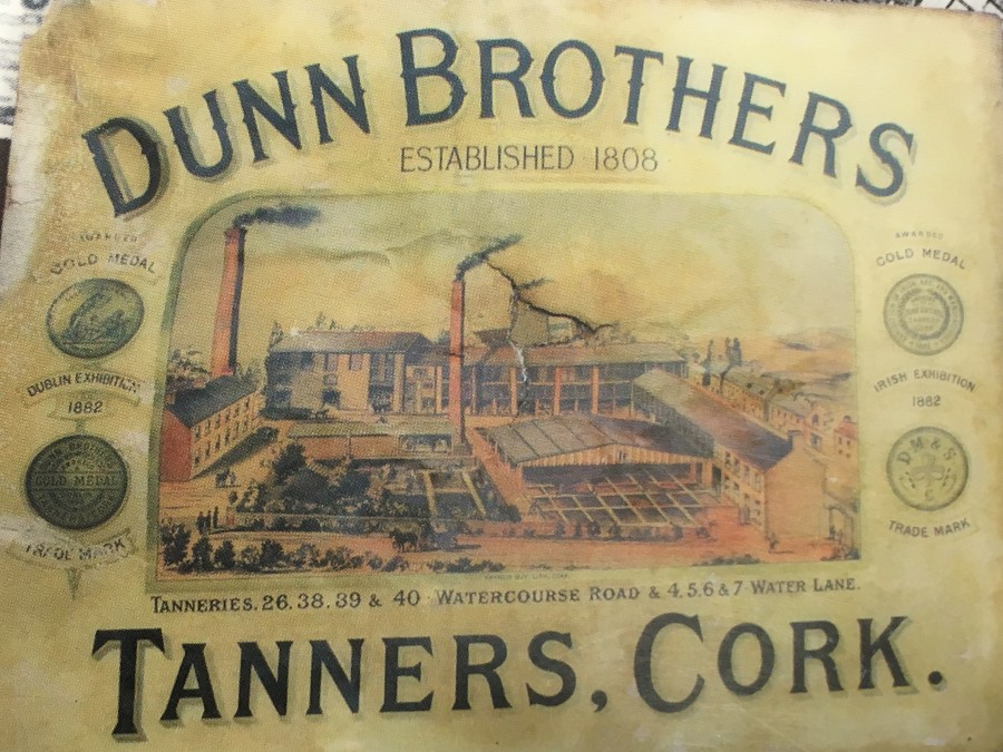 917a. Advertisement for Dunn's Tannery, Watercourse Road, late nineteenth century