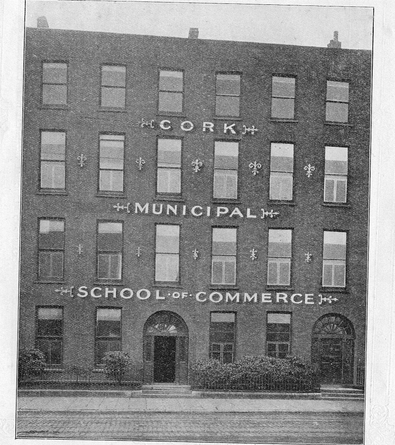 919a. Cork School of Commerce as pictured in 1919 on Jameson Row, South Mall