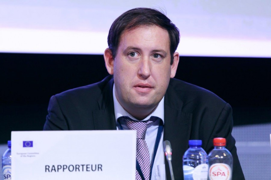 Cllr Kieran McCarthy, speaking at the recent plenary of the European Committee of the Regions in the European Commission, Brussels, October 2017