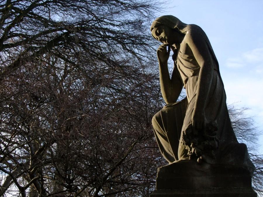 920b. Ornate statue, St Finbarr's Cemetery, present day