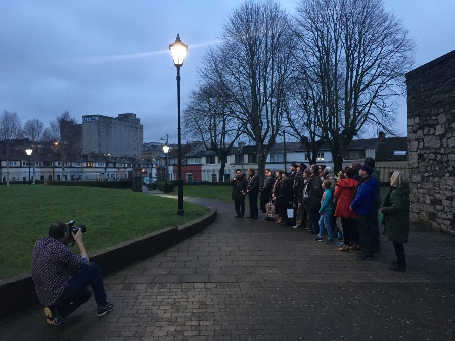 Evening Echo Art Installation by Maddie Leach, Shalom Park, Cork, 19 December 2017