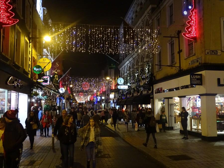 Christmas in Cork City, Oliver Plunkett Street, December 2017