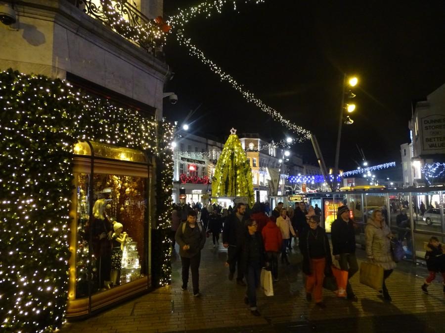 Christmas in Cork City, St Patrick's Street, December 2017