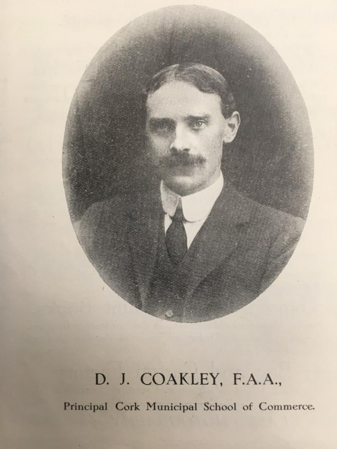 924a. D J Coakley, Principal, Cork School of Commerce, c.1917