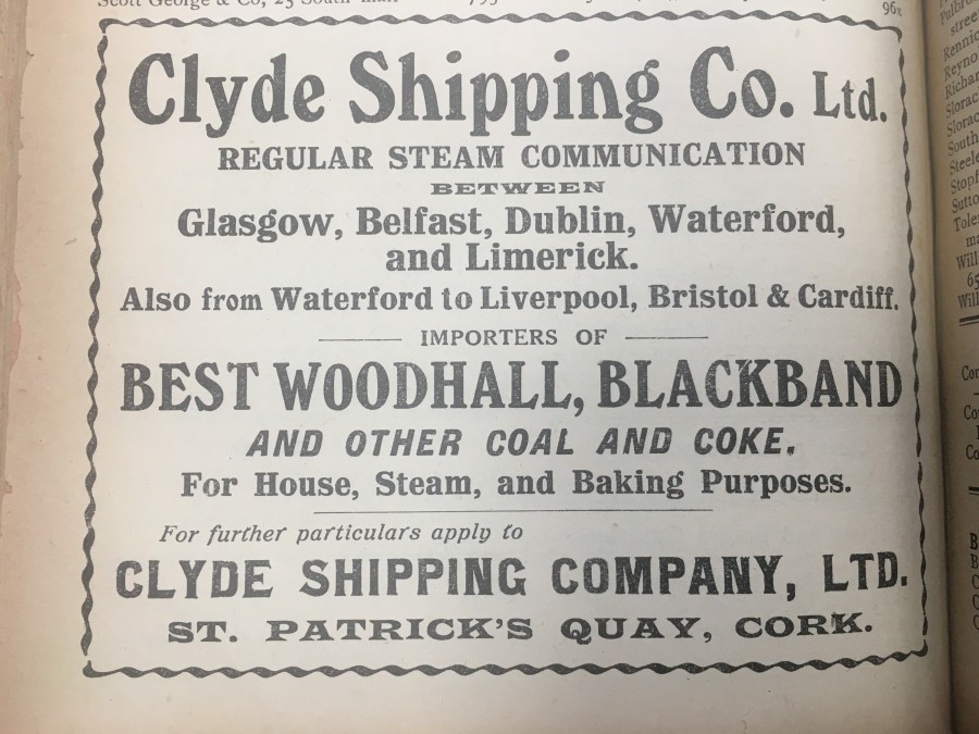 929c. Clyde Shipping coal importer 1918