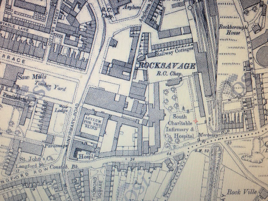 938b. Map of the grounds of South Infirmary, c.1910 - Copy