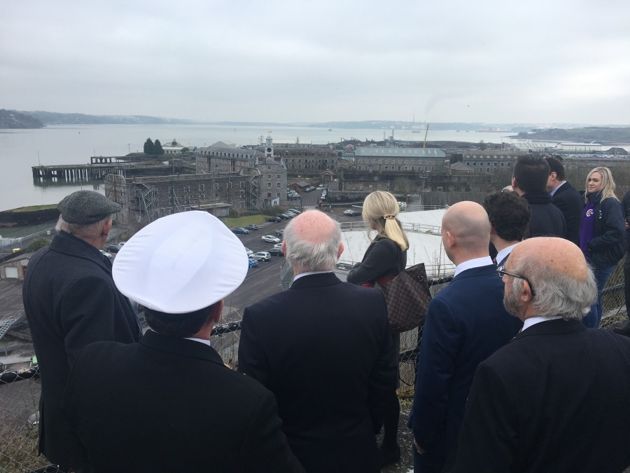 Cllr Kieran McCarthy, Deputising for the Lord Mayor, launch at Haulbowline of Volvo Week 2018, 5 March 2018
