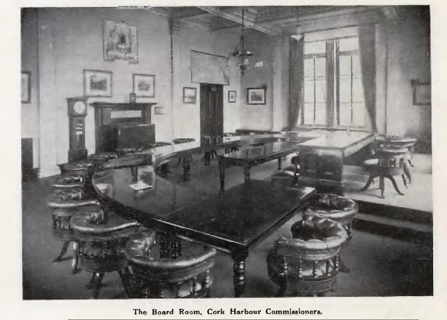 942a. Boardroom, Cork Harbour Commissioners, c.1918