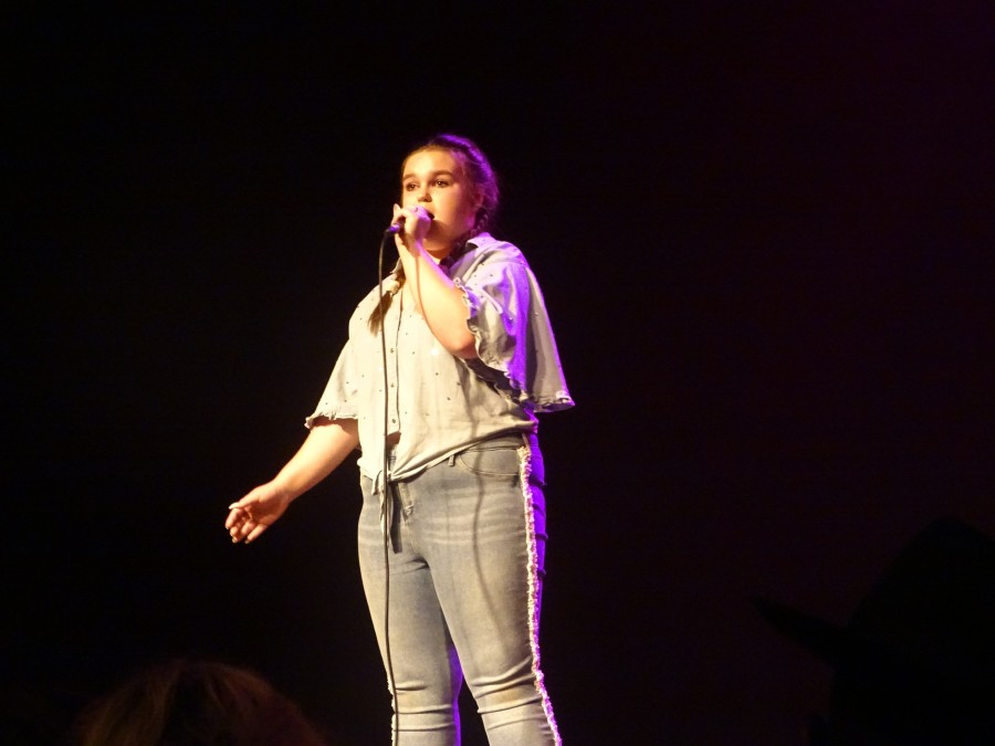 Participant at final of McCarthy's Community Talent Competition, May 2018