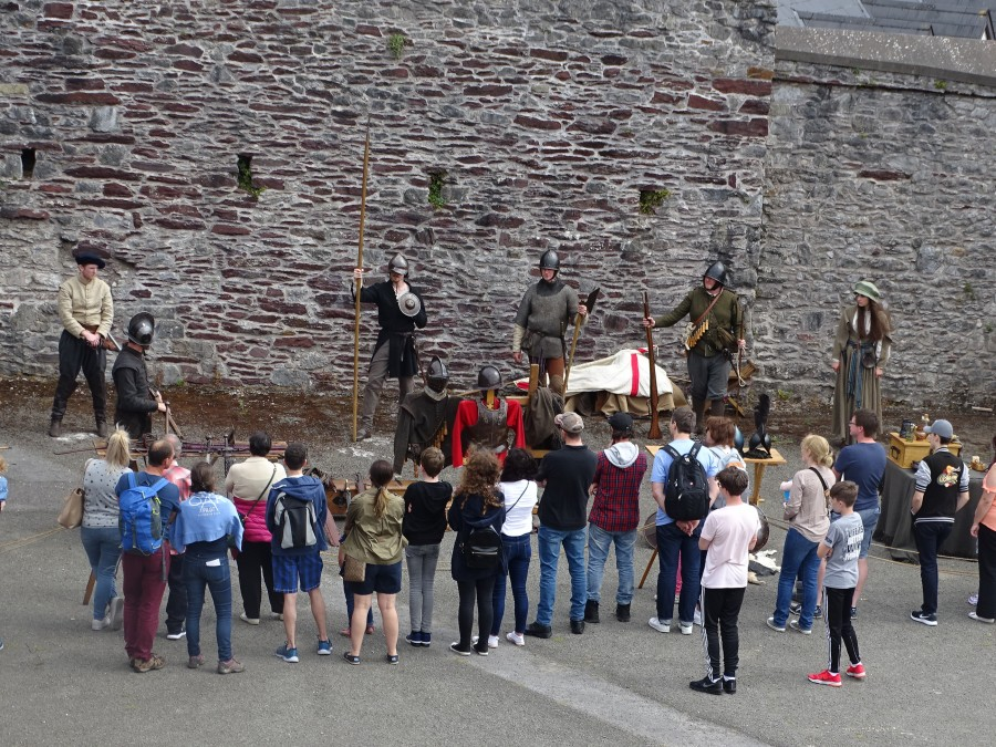 961b. Re-enactment at Elizabeth Fort for the recent Cork Heritage Open Day, one of the sites in Kieran's new book Cork in 50 Buildings