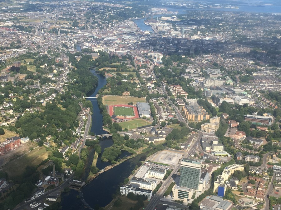 Aerial  view Cork by Kieran McCarthy,  July 2018