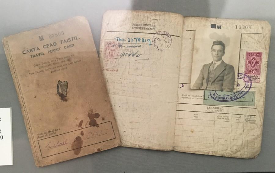 964c. Irish Emigrant Travel Permit Card between Britain and Ireland, 1946