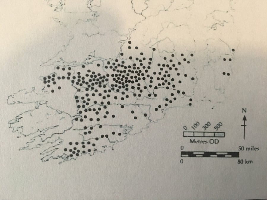 966b. Map of creameries in south west Ireland, 1910