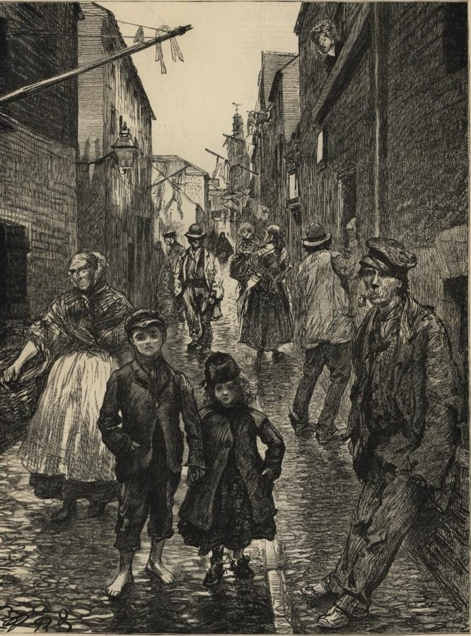 967a. Harpur's Lane c.1900 from Harpur's Weekly Newspaper
