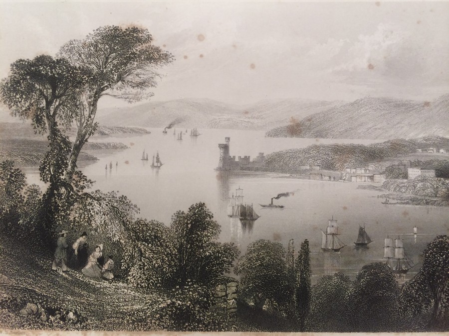 970a. View of Lough Mahon from Tivoli, c.1840