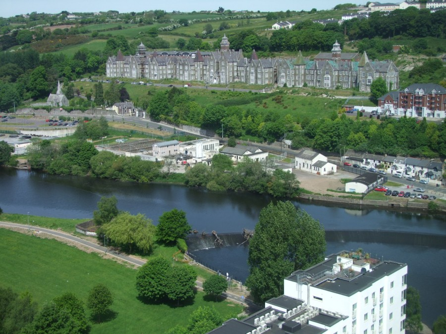 973b. Former Our Lady's Hospital site from the top of Cork County Hall, present day
