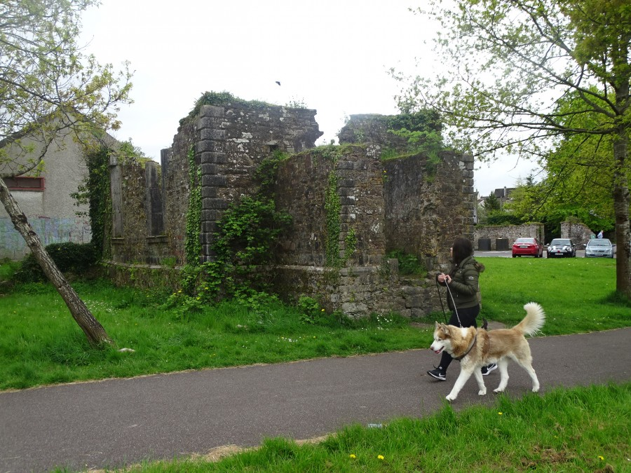 974a. Ruined Bishop's Church, present day