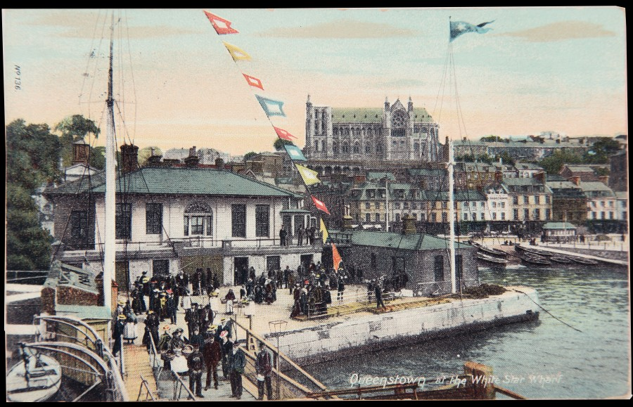 982b. Postcard of White Star Line Offices, Queenstown, c.1900