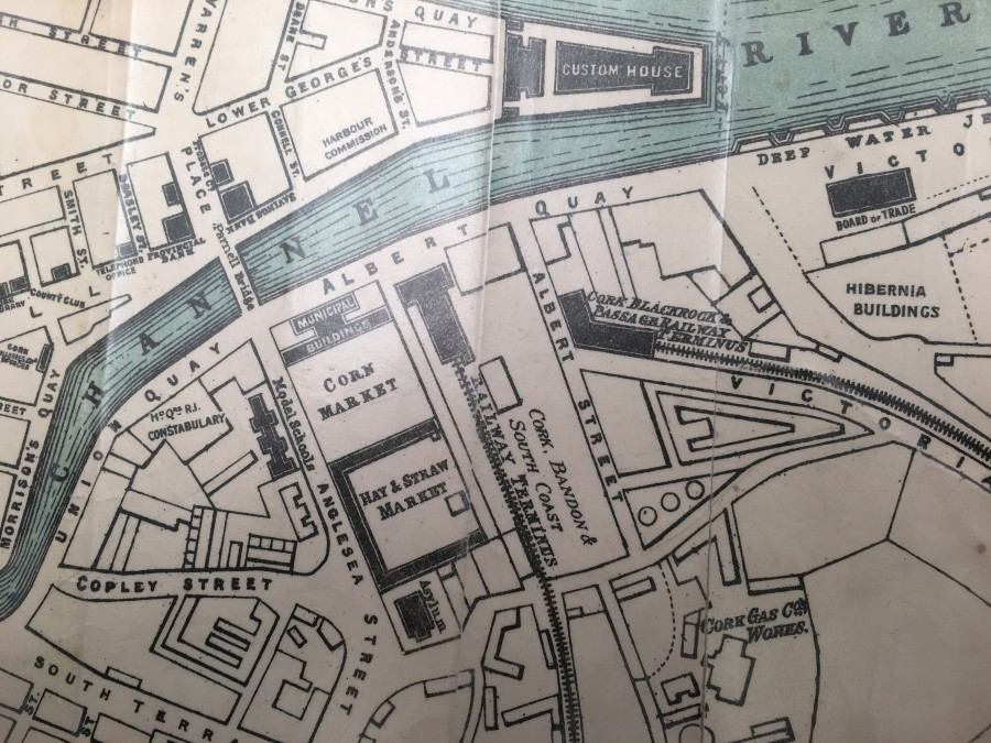 983c. Map of Cork City Hall area in 1893
