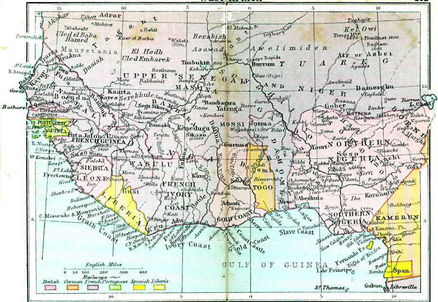 984a. Map of Colonial West Africa 1920