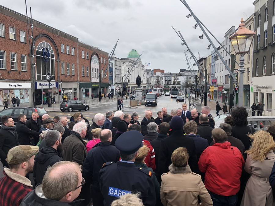 Finihsing of works ceremony, St Patrick's Bridge, 16 March 2019