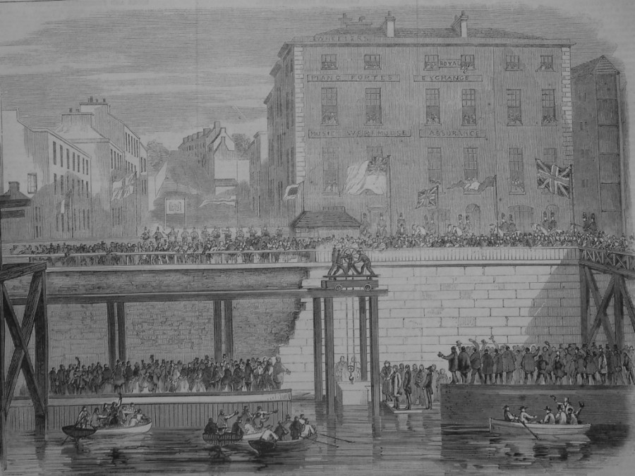 St. Patrick's Bridge from the Illustrated London News, 3 December 1859