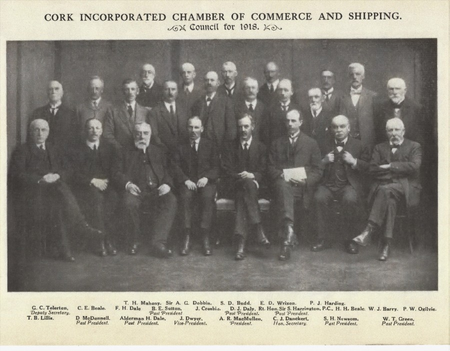 991b. Council, Cork Incorporated Chamber of Commerce and Shipping, 1918 as published in Cork Its Trade and Commerce, 1919