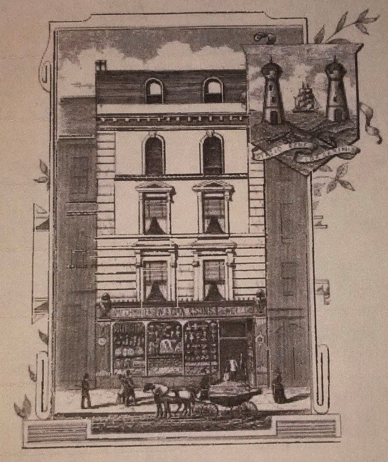 993b. Sketch of Egan's Shop, 32 St Patrick's Street, c.1892