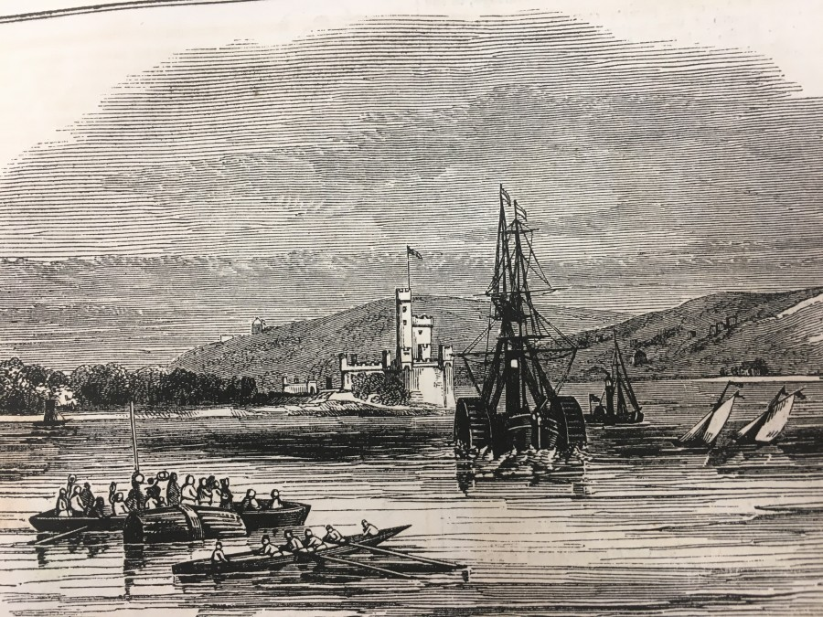 997b. Blackrock Castle, 1843 from Illustrated London News