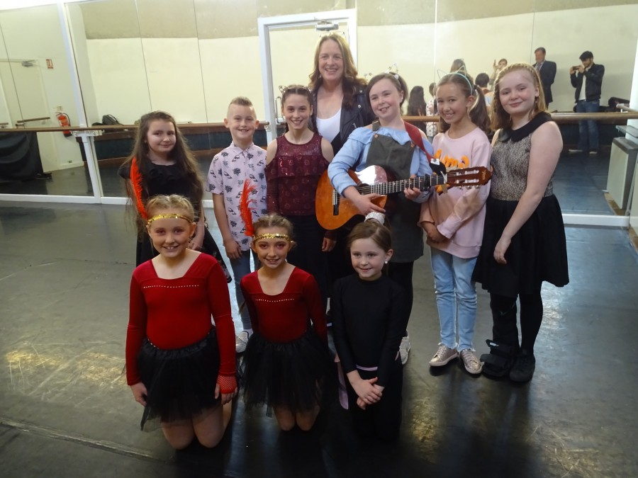 Finalists and mentor, McCarthy's Community Talent Competition, 2019