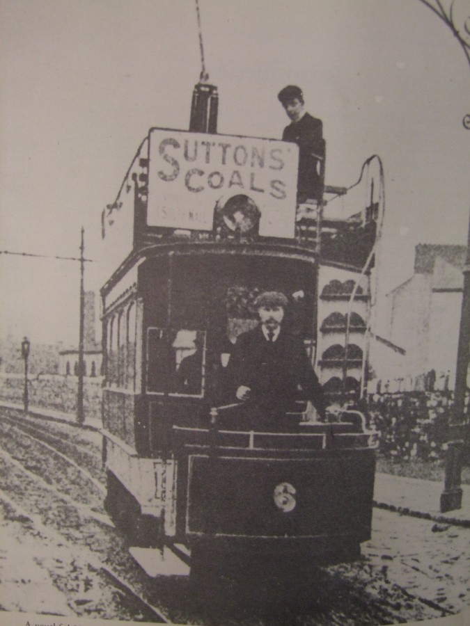 1002a. N H Nalder on upper deck of no.6 on Albert Road (c.1910) from W McGrath's Tram Tracks Through Cork