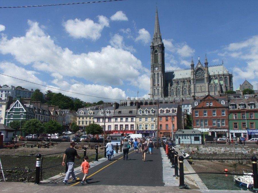 1011b. Present day picture from the waterfront of the front of St Colman's Cathedral, Cobh