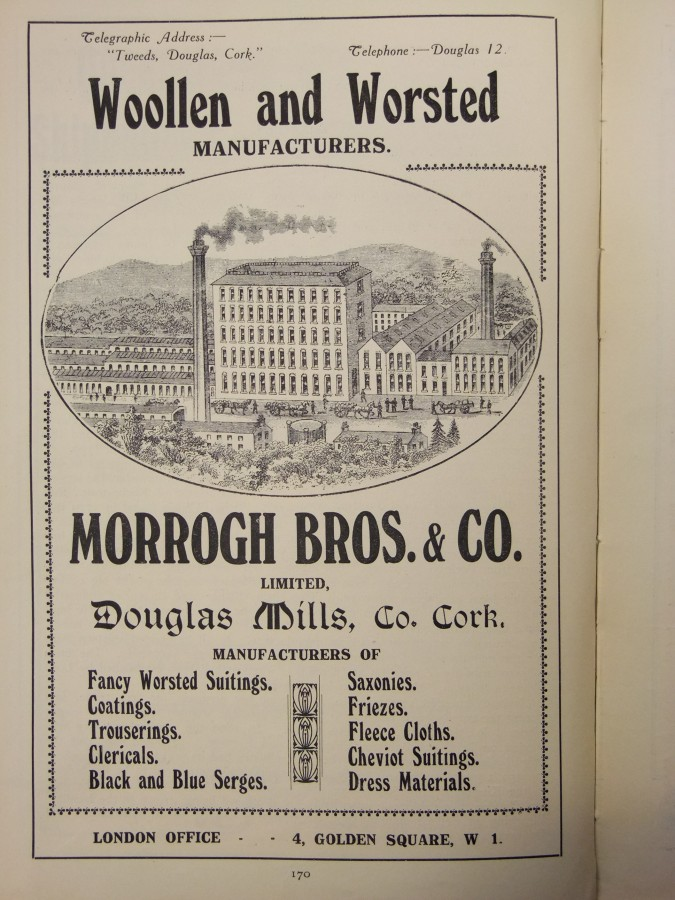 1013a. Advertisement for Morrogh Brothers & Co Mill, Donnybrook, from Cork Its Chamber and Commerce, 1919