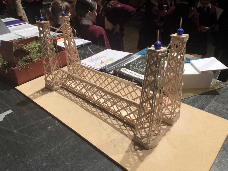 1014b. Model on the Shaky Bridge from Our Lady of the Lourdes NS student 2018.