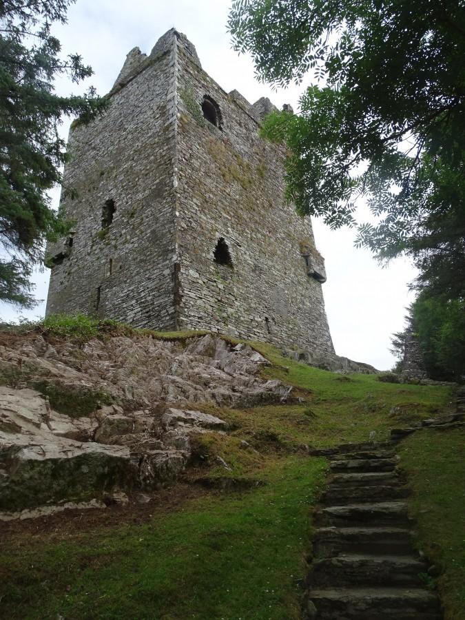 1027b. Ballinacarriga Castle, present day