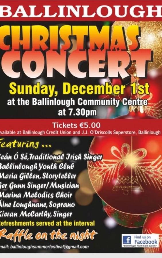 Ballinlough Christmas Concert, 1 December 2019