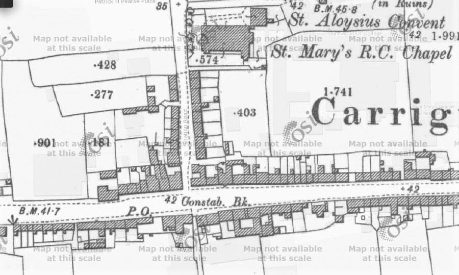 1030b. Location map of RIC Barracks, Carrigtwohill, c.1910