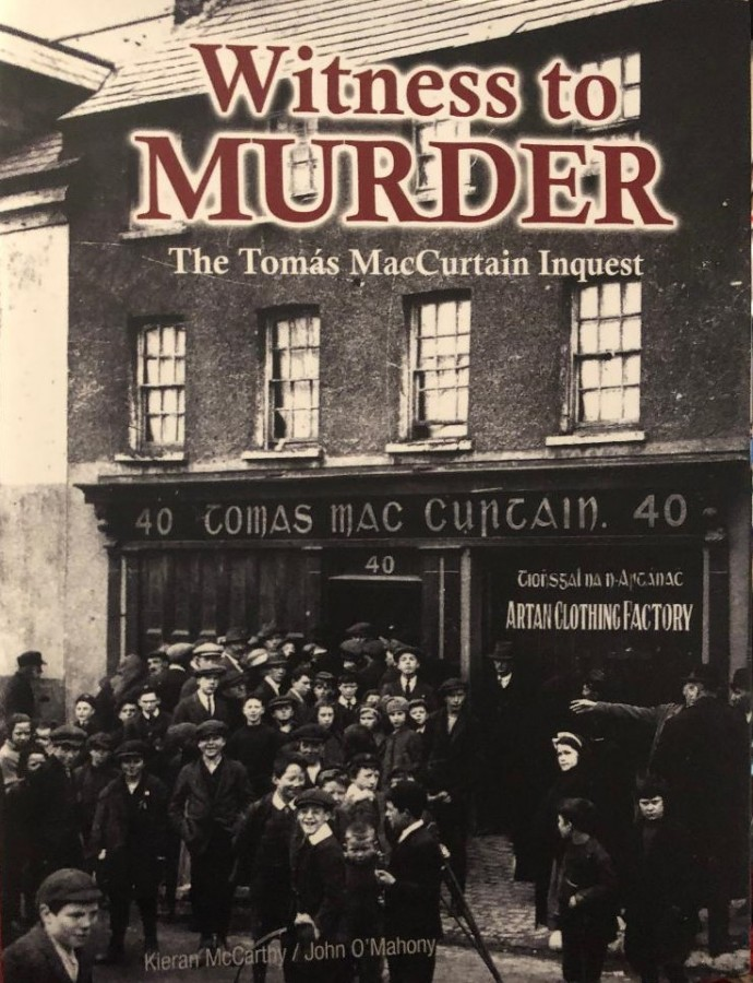 1043a. Cover of Witness to Murder by Kieran McCarthy and John O'Mahony