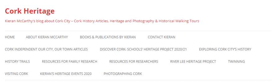 Cork Heritage Website by Kieran McCarthy