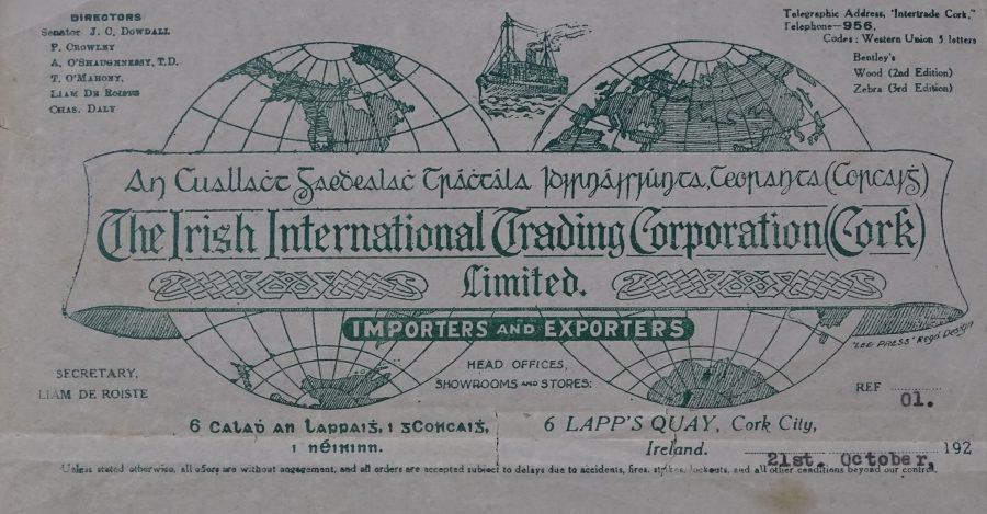 1101b. Letter head for Irish International Trading Corporation (Cork), 1927 (source: Company Archives)