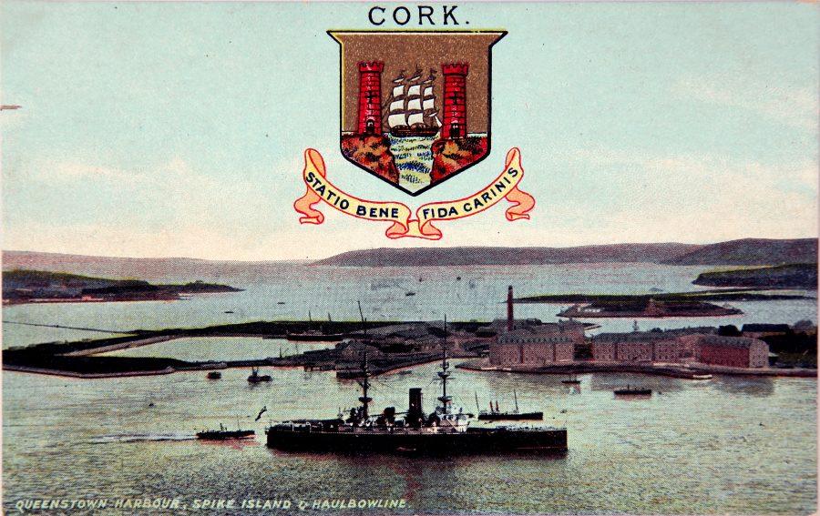 1102a. Haulbowline Dockyard, c.1910 from Cork Harbour Through Time by Kieran McCarthy & Dan Breen.