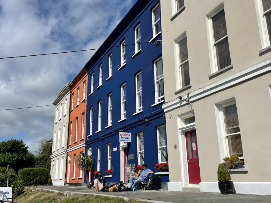 1114b. No.3 Belgrave Place, formerly the McSwiney St Ita's School, the blue building, now Sheila's Hostel, Wellington Road (picture: Kieran McCarthy).