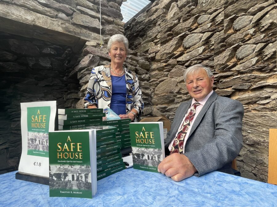1120a. Noreen and author Timothy R Murray of Courtbrack, Blarney at the recent book launch of A Safe House, One Family's Fight for Irish Freedom, September 2021 (picture: Kieran McCarthy).