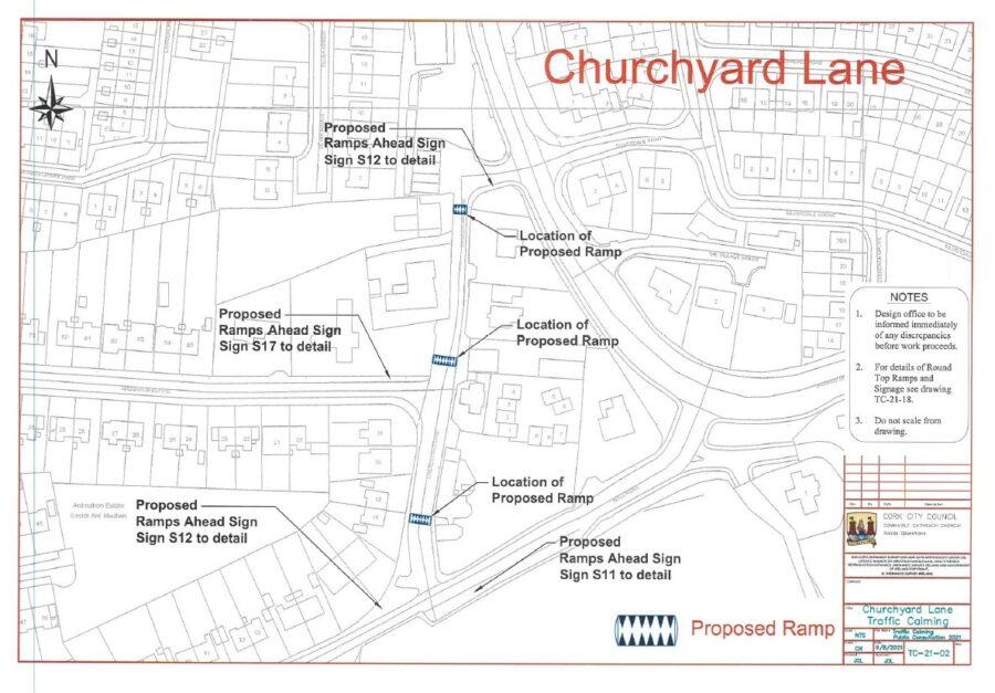 Churchyard Lane Ramps Proposal, Ballinlough, September 2021